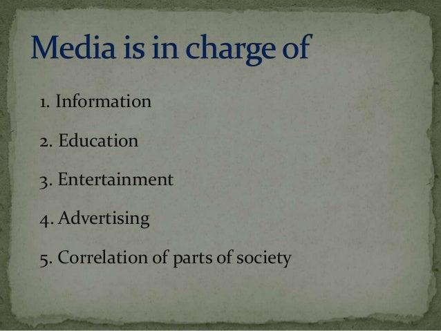 role of media in current scenario Slide 3