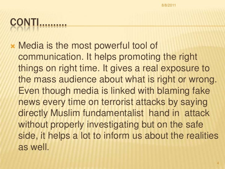 role of media in national integration