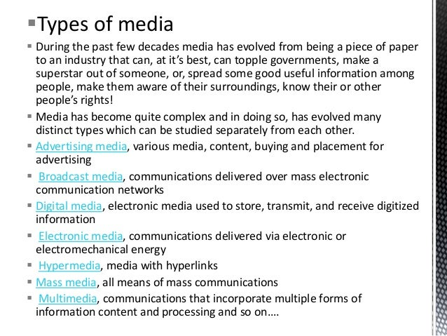 role of media in changing our The focus of this article is on how media can function in terms of contributing to the  the core of both scholars' work is the question of how changing media.