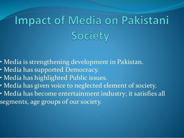 The dramas, programs etc shown on media glamorize everything they depict, this has created a moral vacuum and our young ge...