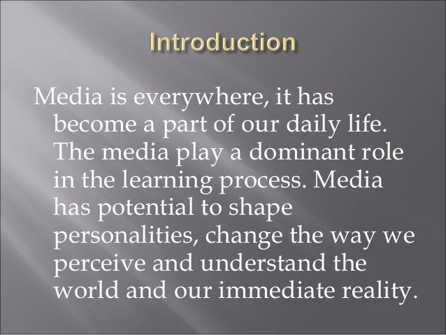 Role of media in social change essay