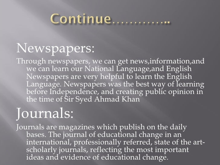 What is the Role of Newspaper in enhancing Education?