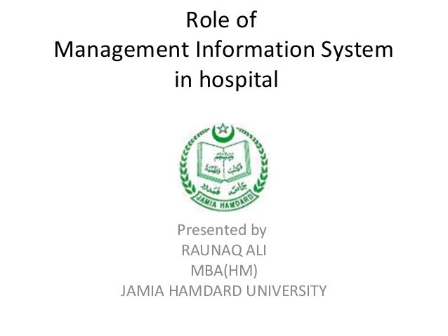 role of management information system
