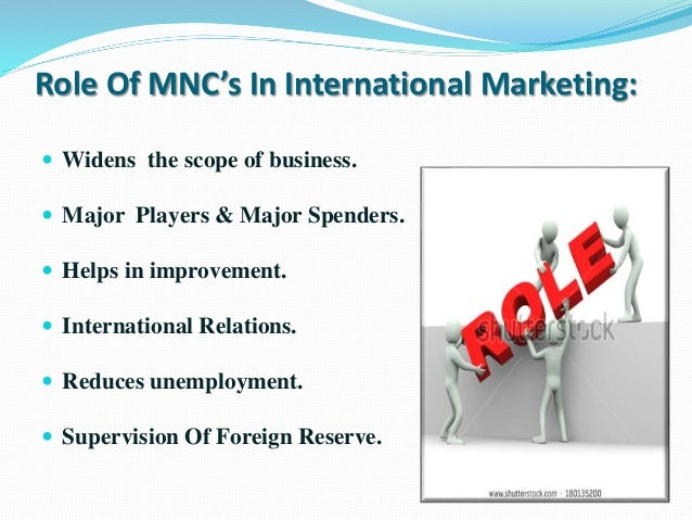 mncs and international trade