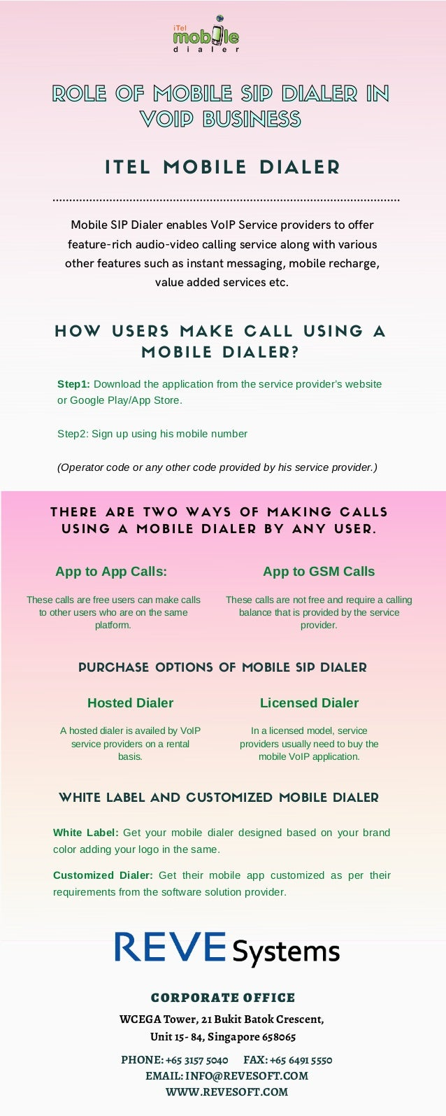 App to App Calls: These calls are free users can make calls to other users who are on the same platform. Mobile SIP Dialer...