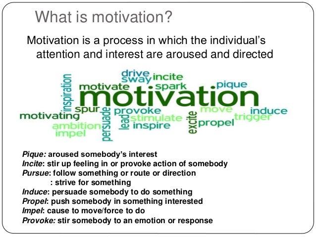 Role of motivation Slide 2