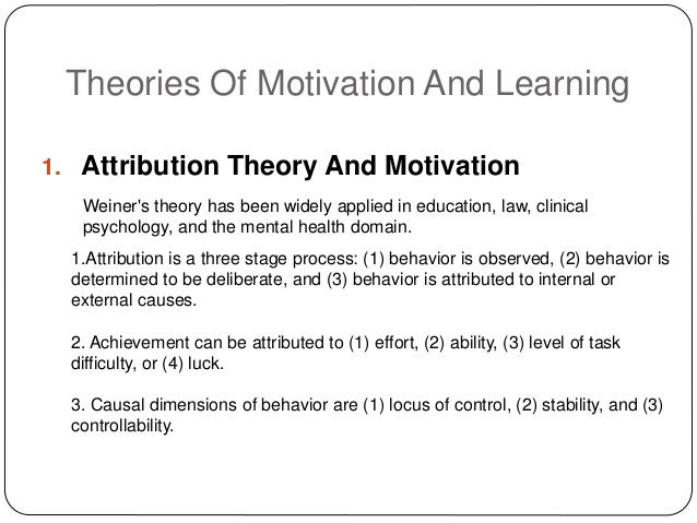 Role of motivation