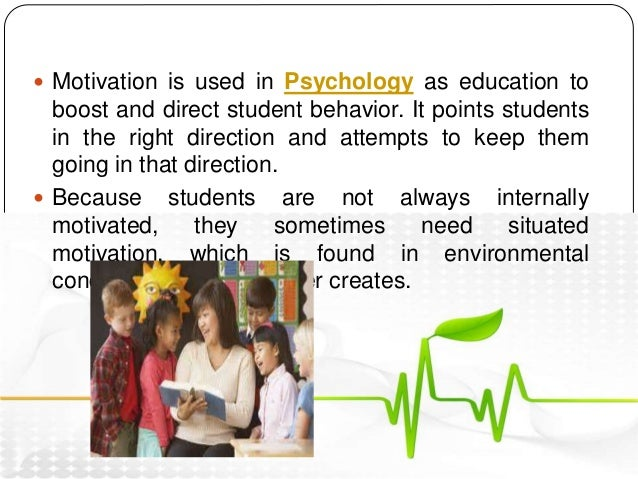 the role of motivation Dynamic conversations, a website dedicated to workplace training in leadership, teams and personal development, talks about motivation in the workplace.