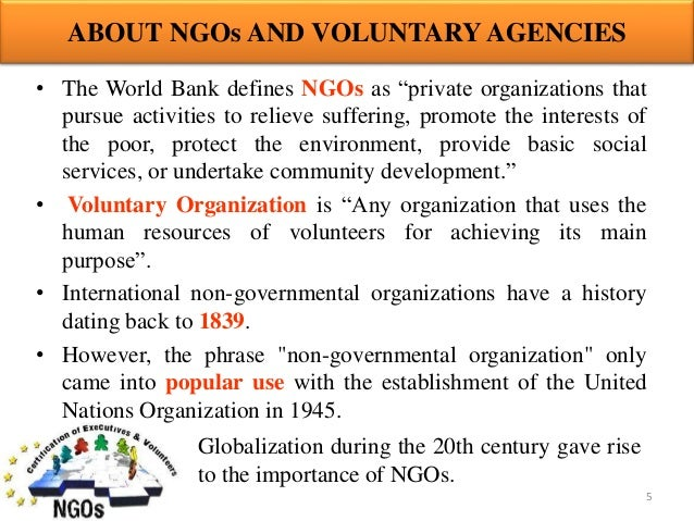 The Role of NGOs in the Development of Democracy
