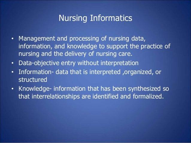 Role Of Nursing Informatics In Hospital Information System