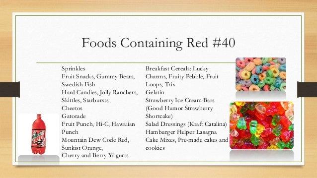 Natural Foods Containing Gelatin
