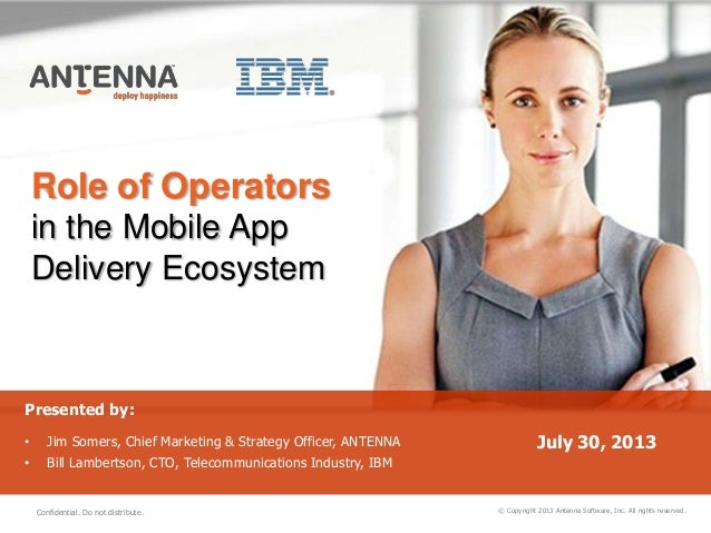 Role of Operators in the Mobile App Delivery Ecosystem © Copyright 2013 Antenna Software, Inc. All rights reserved. Presen...