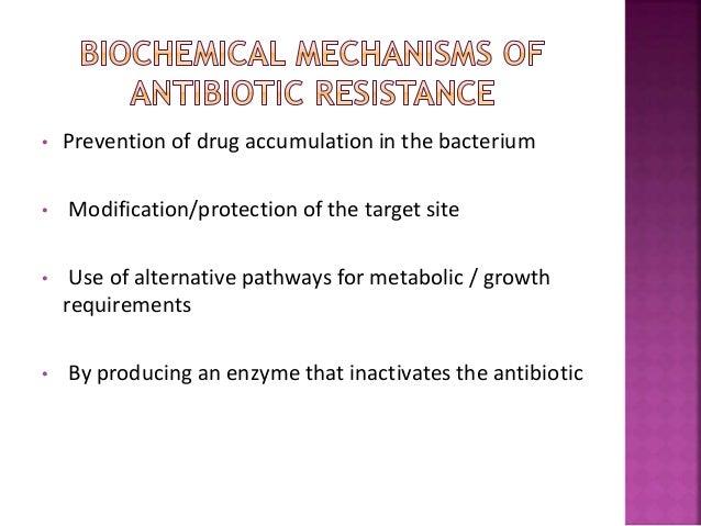 Drug Mechanism of resistance Pencillins & Cephalosporiins B Lactamase cleavage of the Blactam ring Aminoglycosides Modific...