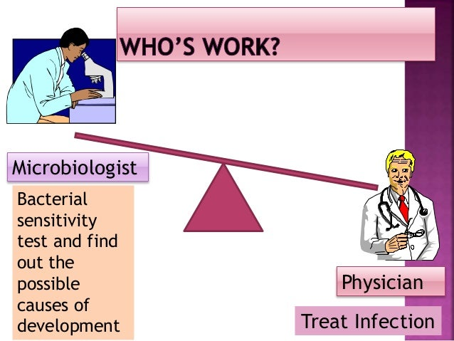 Microbiologist Physician Pharmacologist Advise the proper and adequate antibiotics with balancing the economy of hospital