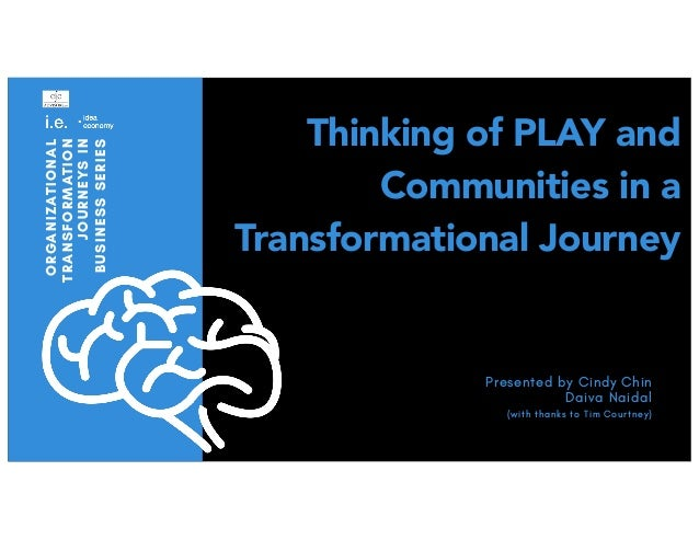 Thinking of PLAY and Communities in a Transformational Journey ORGANIZATIONAL TRANSFORMATION JOURNEYSIN BUSINESSSERIES Pre...