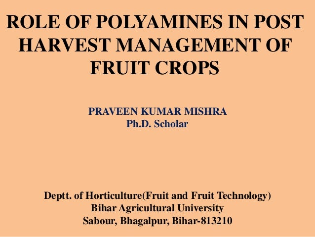 post harvest management of fruits Part 1: quality maintenance - postharvest handling and cooling of fresh fruits, vegetables, and flowers for small farms postharvest handling and cooling of fresh fruits, vegetables, and.
