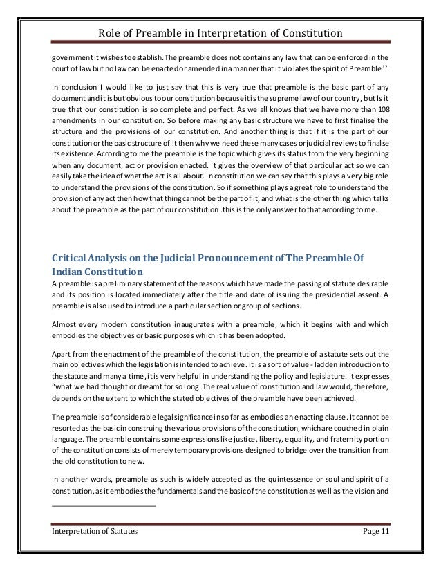 role of the preamble in the Preamble and scope preamble: a lawyer's responsibilities [1] [ washington revision] a lawyer, as a member of the legal profession, is a.