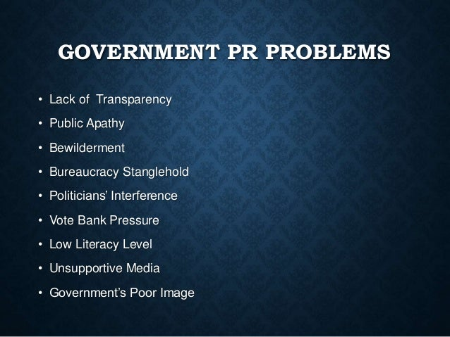 Role of Public Relations in Government