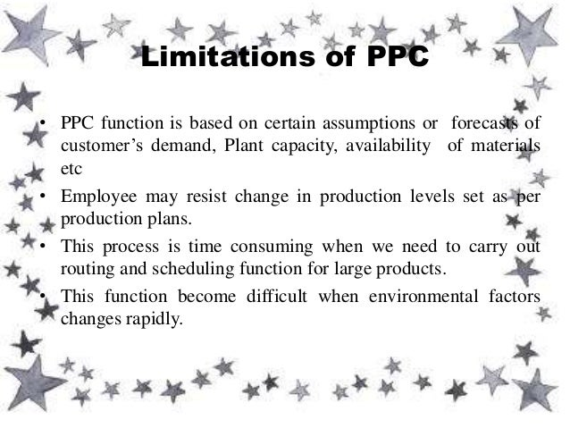 role of production planning and control