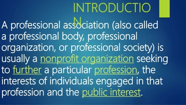 role of professional assosciations and unions ppt