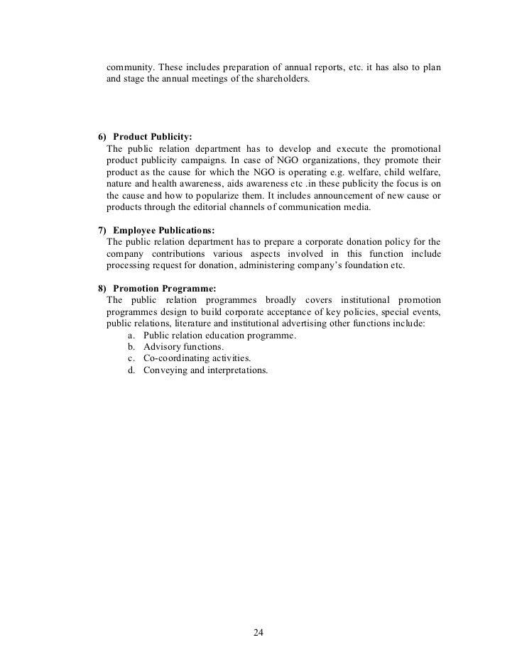 Role Of Public Relations In Ngo Management – Public Relations Job Description