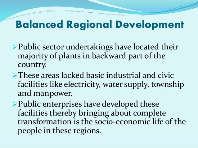Role of public sector in the development process of Indian ...