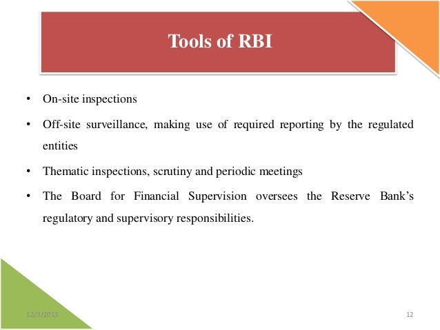 role of rbi Since the onset of the process economic reforms, including the on-going  liberalization and globalization of the economy, the role of the rbi as the  regulator of.