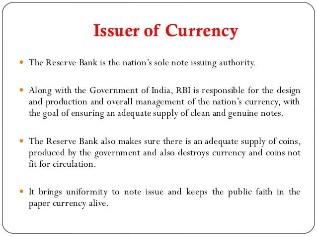 role of rbi in indian economy Roles / duties / responsibilities of the rbi governor in indian economy the rbi governor is the custodian of the country's reserves and defenders of.