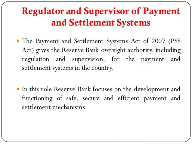 role of rbi in financial system Located in mumbai, the rbi serves the financial market in many ways  off-site  surveillance of banks and financial institutions and strengthening the role of  auditors  the rbi acts as a regulator and supervisor of the overall financial  system.