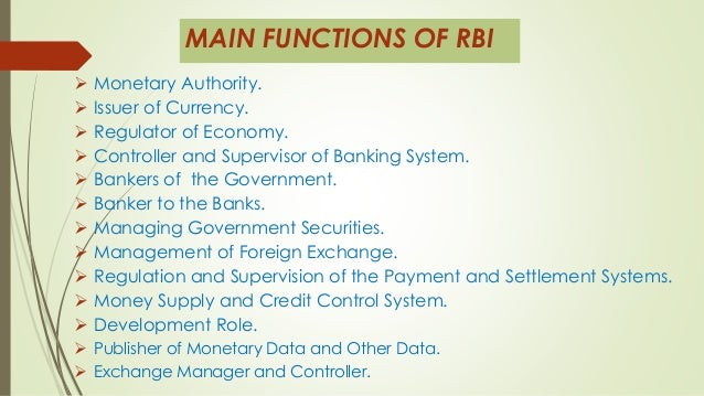 role of reserve bank of india in indian economy