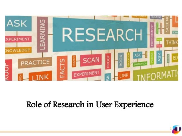 Role of Research in User Experience 1
