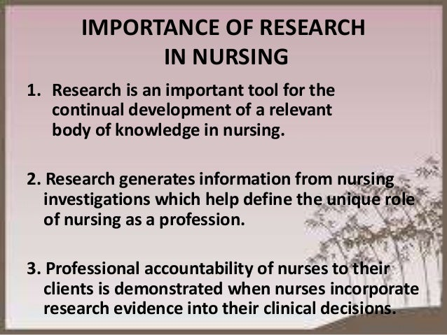 the importance of leadership in nursing Nursing leaders function at all levels of nursing from the ward through to top nursing management over time, the function of leadership has changed from one of authority and power to one of being powerful without being overpowering (jooste, 2004).