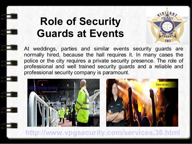 Role of Security Guards at Events and Conferences
