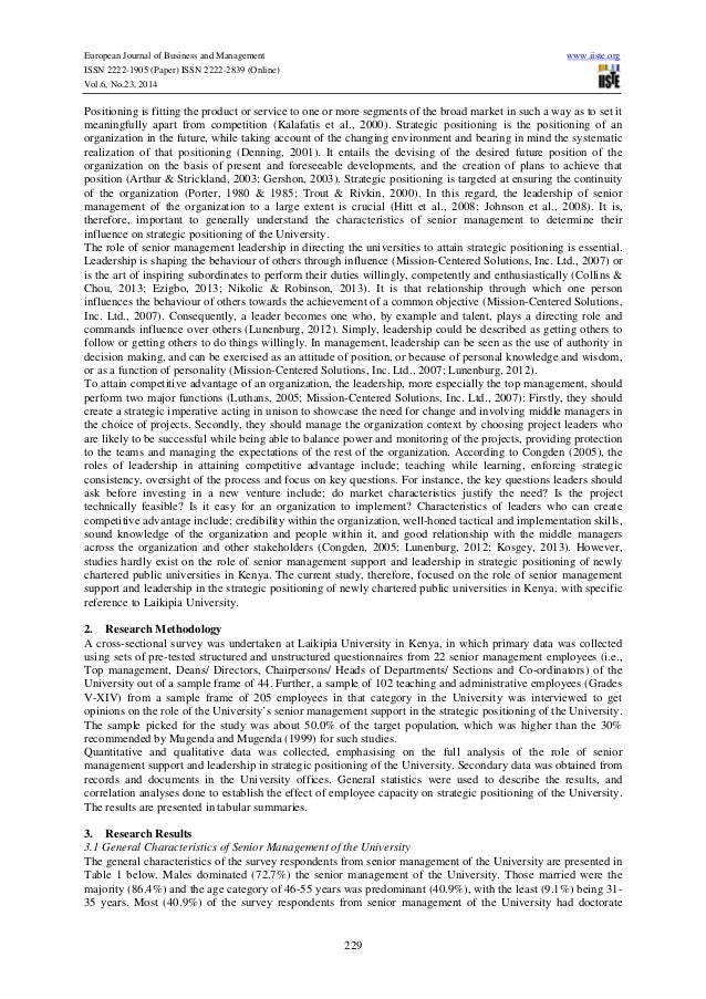 role of senior leaders Information for middle and senior leaders the resources in this section focus on what it means to be a middle or senior leader leadership is about empowering, transforming, and working together it not only about people in formal leadership roles teachers as leaders and teachers as supporters of.