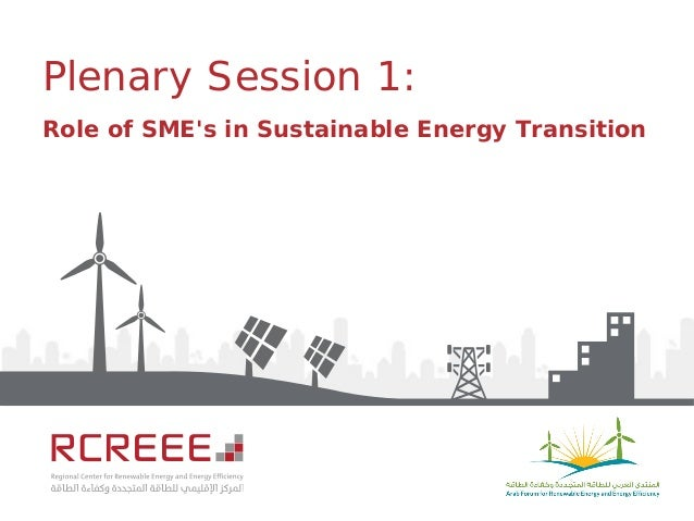 Plenary Session 1: Role of SME's in Sustainable Energy Transition