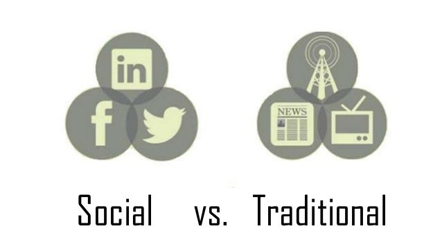 Traditional system of communication compared to the modern system of communication