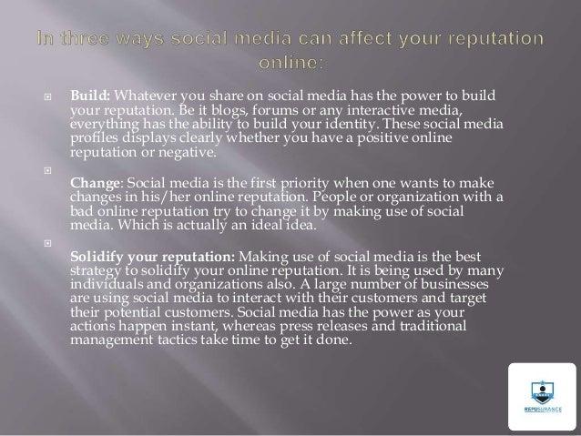 Repusurance | Role of social media in online reputation management Slide 2