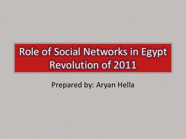 Role of Social Networks in EgyptRevolution of 2011Prepared by: Aryan Hella