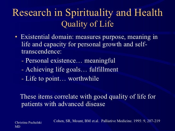 the role of spirituality in health Spirituality and religion have always been an essential component of health and well-being in modern times, the role of spirituality and religion in medicine encompasses such practices as the use of meditation and prayer in healing, pastoral counseling, evoking forgiveness and compassion, engaging the mystery of death in end of life care, and the search for meaning in illness for patients and .