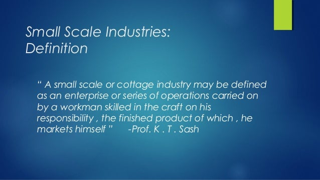 Role Of SSI Sector In The Economy 2