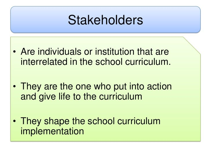 the role of stakeholders Stakeholder responsibilities and role descriptions this worksheet was adapted from a 2011 book published by the healthcare  stakeholders can be key to a.