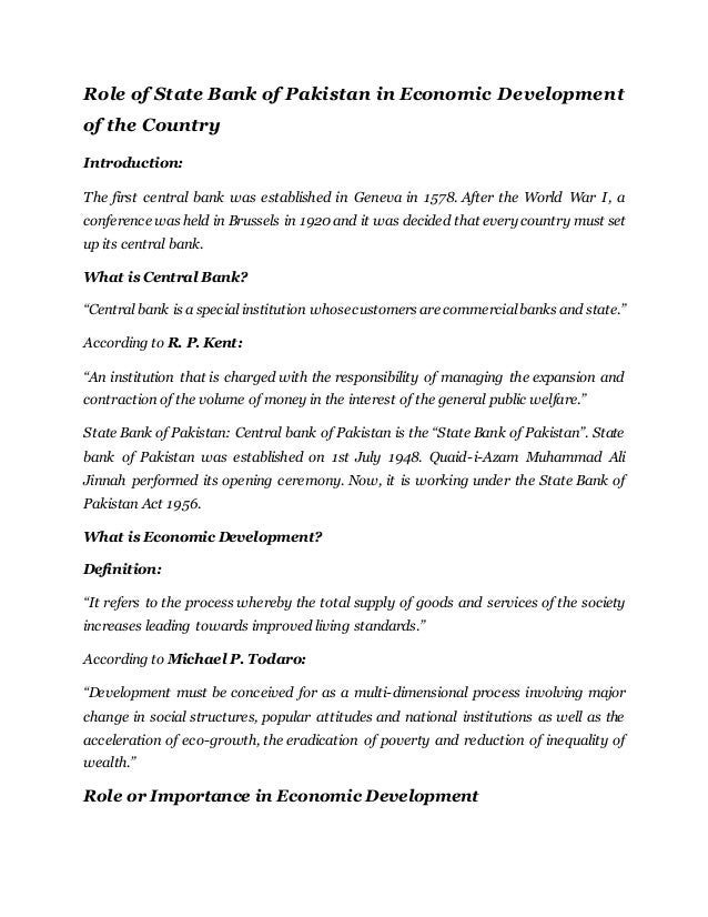 role of banks in the economic development essay Role of rcc in socio economic development largest city in the northern part of bangladesh it stands by side of padma rajshahi was known an important business place for a long time ago and the river played a significant role to transport.