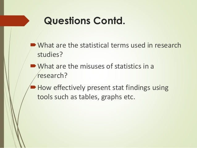 Importance of statistics in research paper