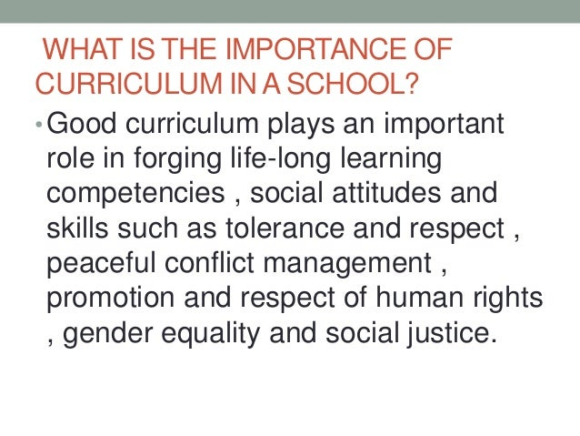 importance of curriculum development in enhancing teaching and learning