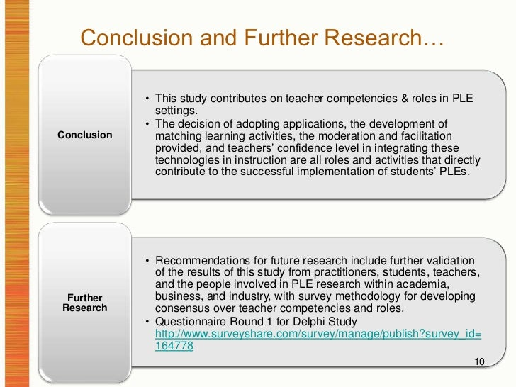 Conclusion and Further Research…<br />10<br />