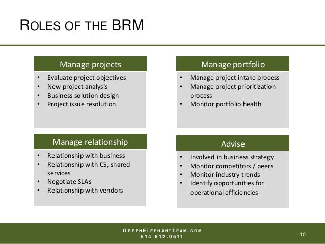 What Is The Role Of The Business Relationship Manager Brm
