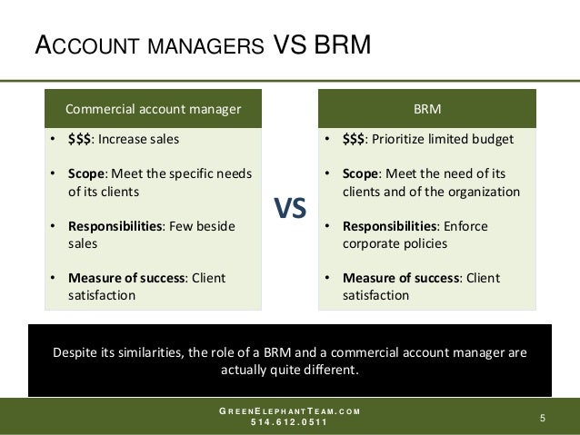 What is the role of the business relationship manager (BRM)?