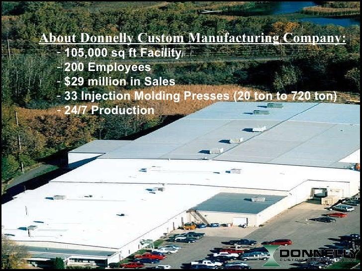 <ul><li>105,000 sq ft Facility </li></ul><ul><li>200 Employees </li></ul><ul><li>$29 million in Sales </li></ul><ul><li>33...