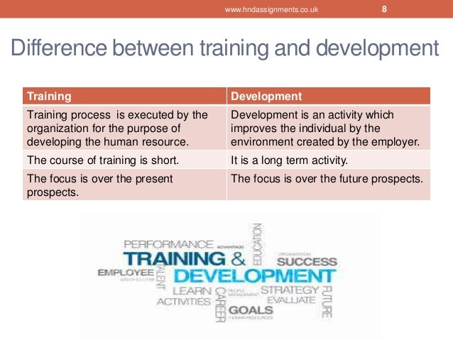how to develop an effective training and development programme