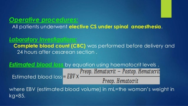 Role of tranexamic acid in cesarean section